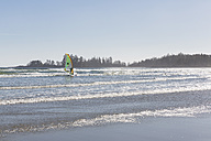 Canada, British Columbia, Vancouver Island, Pacific Rim National Park Reserve of Canada, windsurfer at Long Beach - FO005291