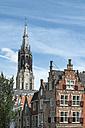 Netherlands, Delft, Town houses and Nieuwe Kerk - ELF000430