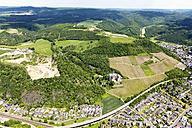 Germany, Rhineland-Palatinate, Bad Hoenningen, View of Castle Arenfels, aerial photo - CSF019950