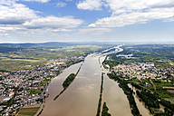 Germany, High water of River Rhine at Ingelheim and Oestrich, aerial photo - CSF019968
