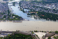 Germany, Rhineland-Palatinate, confluence of River Rhine and Moselle at Koblenz, aerial photo - CS019997