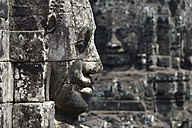 Asia, Cambodia, Angkor Thom, face tower with faces of Bodhisattva - FLK000063