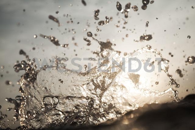 Croatia, Mediterranean Sea, ocean, water splash - FMKF000902
