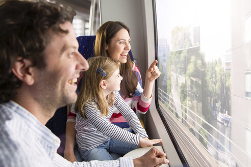 Happy family in a train - KFF000271