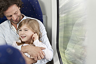 Father and daughter in a train - KFF000229