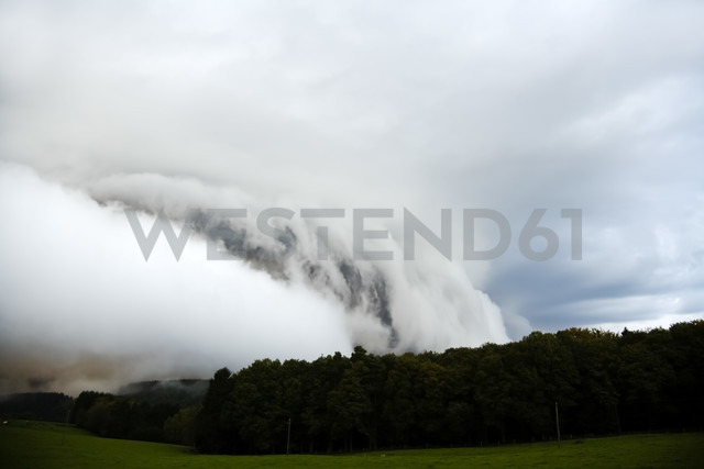 Germany, North Rhine-Westphalia, Windeck, Rain clouds - CSF020027