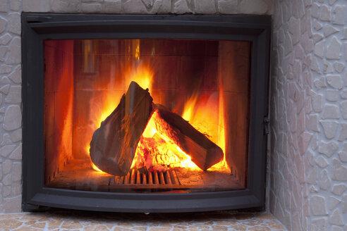 Fire in a fireplace - CSF020030