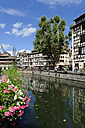France, Bas-Rhin, Strasbourg, La Petite France, framehouses at Quai des Moulins - LB000279