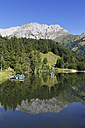 Austria, Carinthia, Carnic Alps, Cellonsee with Mooskofel - SIEF004456