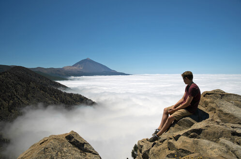 Spain, Canary Islands, Tenerife, Teide National Park, view from Las Canadas del Teide at Pico de Teide - WGF000052