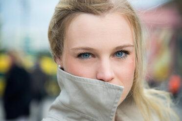 Germany, Berlin, Portrait of a blond woman - NGF000036