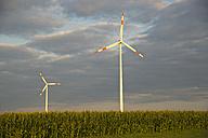 Germany, Baden-Wuerttemberg, wind farm Tomerdingen - WGF000056