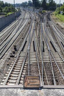 Germany, Ulm, Railroad rails - HAF000233