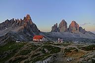Italy, Dolomites, Tre Cime di Lavaredo, Rifugio Antonio Locatelli - PAF000029