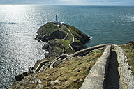 UK, Wales, Anglesey, Holy Island, stairs to the lighthouse of South stack - EL000528