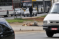Brazil, Sao Paulo, district Luz, sleeping derelict - FLK000162