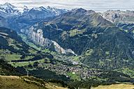 Switzerland, Berner Oberland, view from Maennlichen to Lauterbrunner valley - ELF000553