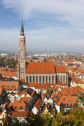 Germany, Bavaria, Landshut, Cityscape with St. Martin's Church - AM001001