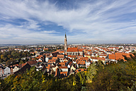 Germany, Bavaria, Landshut, Cityscape with St. Martin's Church - AMF000983