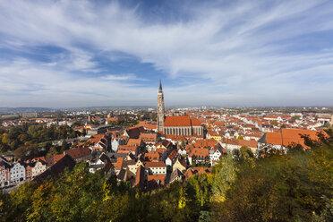 Germany, Bavaria, Landshut, Cityscape with St. Martin's Church - AMF000983