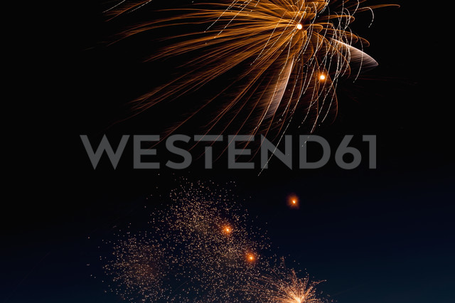 Fireworks exploding in the sky at night - KJF000265