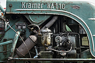 Germany, Baden-Wuerttemberg, detail of an old tractor - EL000580