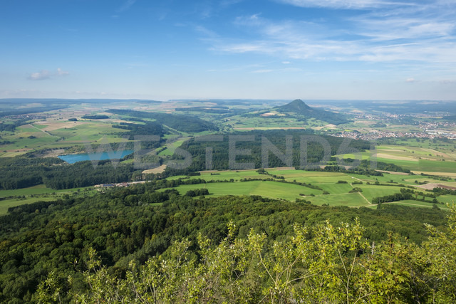 Germany, Baden Wuerttemberg, district Konstanz, View from Hohenstoffeln in the Hegau, right Hohenhewen - ELF000590
