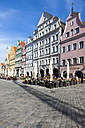 Germany, Bavaria, Landshut, old town, historic  buildings at pedestrian area - AMF001014