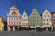 Germany, Bavaria, Landshut, old town, historic  buildings at pedestrian area - AMF001020