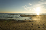 Holland, North Sea, coast, beach in the evening - MYF000046