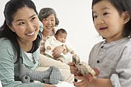 Happy Asian three generations family - FSF000076