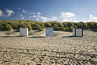 Netherlands, Holland, Zeeland district, Domburg, three beach huts - MYF000064