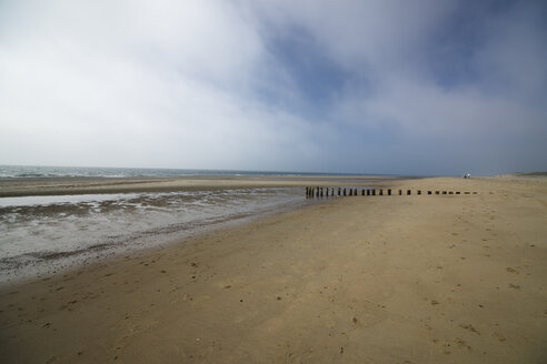 Netherlands, Holland, Zeeland district, Westenschouwen, empty beach - MYF000065