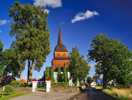 Sweden, Smaland, Kalmar laen, Vimmerby, Tuna, view to church - BT000006