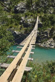 Montenegro, Swing bridge over Moraca Canyon between Podgorica and Kolasin - ES000676