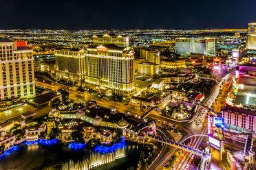 USA, Nevada, Las Vegas at night - ABAF001039