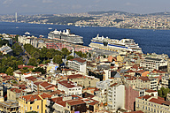 Turkey, Istanbul, view from Galata Tower over Beyoglu and Bosphorus - ES000689