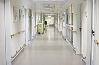 Germany, Freiburg, View of empty hospital corridor - DHL000143