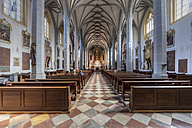 Germany, Bavaria, Altoetting, central aisle of collegiate church St Phillip and Jacob - AM001056