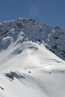 Switzerland, Arosa, snowcapped mountain - AWDF000701