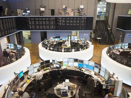 Germany, Hesse, Interior of the Frankfurt Stock Exchange - AM001103