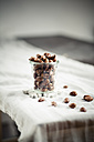 Candied almonds in jar on table - SBDF000329
