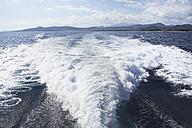 Italy, Sardinia, Wake of yacht - PDF000589
