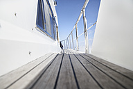 Italy, Sardinia, Planks of yacht deck - PDF000586