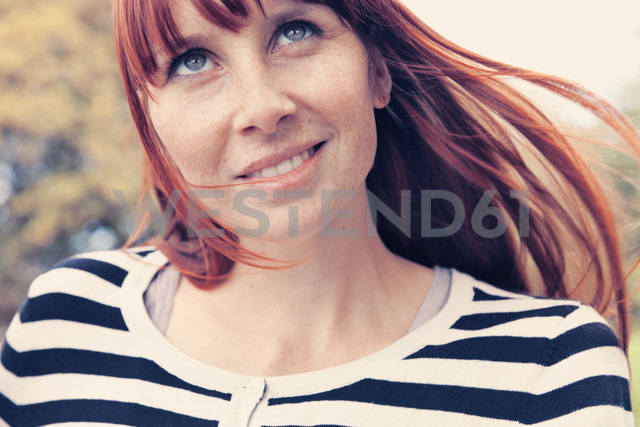 Close up of young woman, outdoors - MFF000618