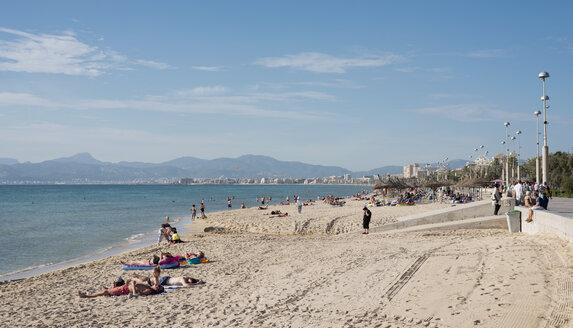 Spain, Balearic Islands, Majorca, Palma, Spain, Balearic Islands, Majorca, Palma, Platja de Palma, beach - HL000289