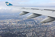 Airplane wing over Frankfurt, Germany - AM001167