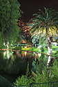Portugal, Madeira Island, Funchal, tropical park by night - VT000044