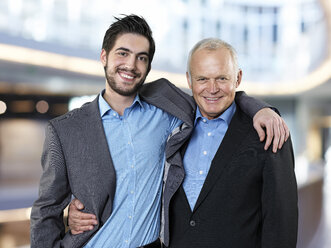 Portrait of two smiling business men - STKF000509