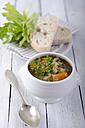 Lentil soup in bowl, close up - ODF000689
